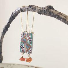 Mina Mina drop earrings Silver Earrings, Silver Jewelry, Drop Earrings, Colorful Paintings, Carnelian, Warm Colors, Jewelry Design, Sterling Silver, Beads