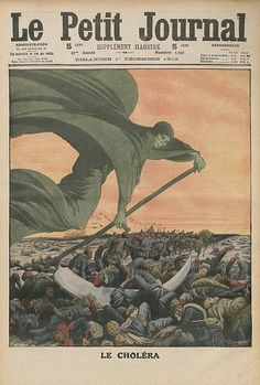 Drawing about the Cholera in Le Petit Journal