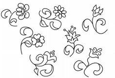 Dibujos para bordar flores - Imagui