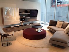BINGO I want the whole set!! B&B Italia living room - sofa: ARNE - coffee table: HARRY LARGE - wall unit: FLAT.C