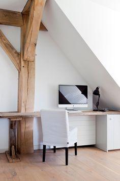 an attic office