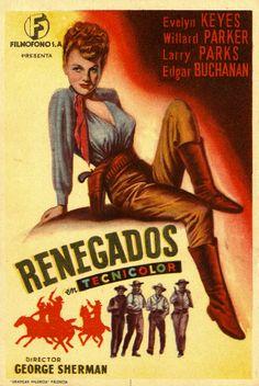 284.  Renegados. Dirigida por George Sherman. Valencia: Gráficas Valencia, [1946]. #ProgramasdeMano #BbtkULL #Western #DiadelLibro2014