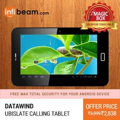 DEAL OF THE DAY !  Datawind UbiSlate Calling Tablet at Lowest Rate from Infibeam's MagicBox !  #MagicBox #Deals #DealOfTheDay #Offer #Discount #LowestRates #Datawind #UbiSlate #CallingTablet #Tablets #Touchscreen #Android