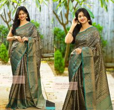 Want to shop best light weight party wear sarees for Do check out this brands collection. Saree Blouse Neck Designs, Saree Blouse Patterns, Trendy Sarees, Stylish Sarees, Indian Silk Sarees, Indian Beauty Saree, Georgette Sarees, Sari Design, Saree Models