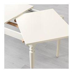 IKEA - INGATORP, Ausziehtisch, Mit einer Zusatzplatte.Ausziehbarer Esstisch mit 1 Zusatzplatte; bietet Platz für 4-6 Personen. Größe des Tisches je nach Bedarf anpassbar.Da der Tisch mitsamt den Beinen ausgezogen wird, hat man mehr Platz für Stühle und mehr Bewegungsfreiheit am Tisch.Der ausgezogene Tisch hat keine Kanten, an denen Kinder sich stoßen könnten.Keine Fugen in der Platte, wenn der Tisch nicht ausgezogen ist, da die Platte am Tischende eingelegt wird.Die klar lackierte Oberfläche…