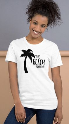 Vacation Shirts, Beach Shirts, Summer Shirts, Ash Color, Shirt Designs, Trending Outfits, Tees, T Shirt, Cotton