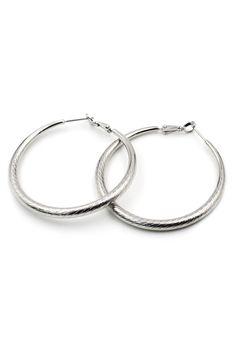 Fashion circle silver earrings
