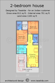 60 X 40 Story and Half House Plans Fresh House Floor Plans 50 400 Sqm Designed by Teoalida - Home Inspiration 2bhk House Plan, Model House Plan, House Layout Plans, Duplex House Plans, House Plans One Story, Narrow House Designs, Narrow House Plans, Small House Floor Plans, Simple House Plans