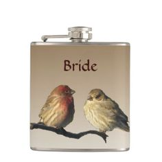 Finches Brides Wedding Flask