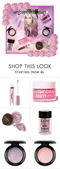"""""""Unicorn Makeup: Rose Glitter"""" by crazywriterfangirl90000 ❤ liked on Polyvore featuring beauty, FCTRY, Charlotte Russe, MAC Cosmetics, L'Oréal Paris and Ballard Designs"""