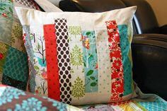 Patchwork Cushion - like the colours in this