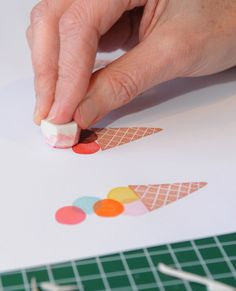 Hand Carved Ice Cream Stamp - Gertie Jaquet
