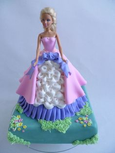 Barbie Cake: My mom used to make these for me and my sisters for our birthdays.