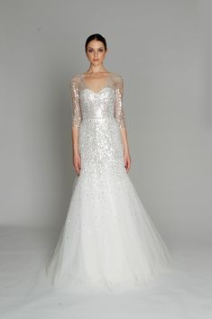 Today I have brought in white sequin wedding dress! Today I have brought in an inspiring assemblage of white sequin wedding dress Want a Monique Lhuillier, Stunning Dresses, Beautiful Gowns, Gorgeous Dress, Bridal Gowns, Wedding Gowns, Wedding Bride, Fall Collection, Dress Collection