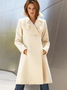Cream colored wool coat