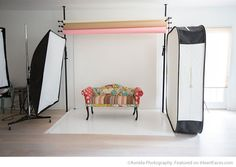 High key lighting set-up of Avnida Photography - featured studio on I Heart Faces Photography Blog