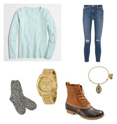 """""""Football Games🔵😈"""" by nikeprepster16 on Polyvore featuring J.Crew, Frame Denim, L.L.Bean, TNA, Michael Kors and Alex and Ani"""
