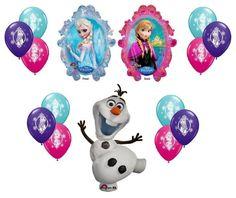 Disney Frozen XL Mylar Balloons Olaf Anna Elsa With 12ct GUARANTEED 4 of Each Color Latex Balloons - 14pc Decorating Kit PMU http://www.amazon.com/dp/B00JQFQC84/ref=cm_sw_r_pi_dp_bmVZtb1ZD399VSX1