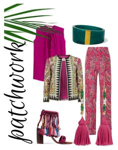 """#patchwork"" by viola-carrara on Polyvore featuring moda, Etro, Aurélie Bidermann, Isabel Marant e Chloé"