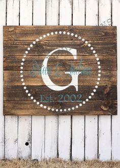 I want this sign!!!!   Custom Wood Sign Established Wood Sign by VintageProdigySigns, $75.00