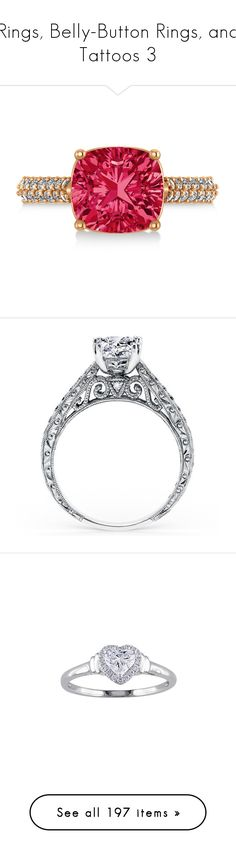 """Rings, Belly-Button Rings, and Tattoos 3"" by emma-frost-98 ❤ liked on Polyvore featuring jewelry, rings, rose gold engagement rings, rose gold rings, cushion cut engagement rings, ruby diamond ring, diamond rings, diamonds, engagement rings and princess cut engagement rings"