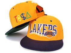 Tisa Snapback Hats Los Angeles Lakers Orange