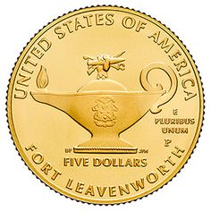 The 2013 5-Star Generals Commemorative Uncirculated Gold Coin- A handsome coin that is sure to enhance your collection!
