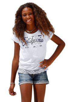 Arizona T-Shirt, mit toller Spitze am Saum