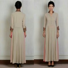 Beige Embroidered Tunic - Manish Malhotra