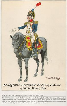 French; 18th Line Infantry, Colonel, grande Tenue, 1805