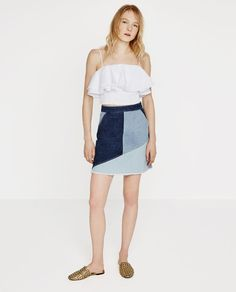 Image 1 of PATCHWORK SKIRT from Zara