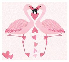 flamingo hearts cause my sweetie lives on Flamingo St.