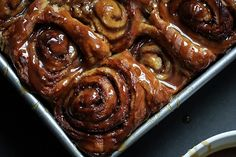 Pumpkin Cinnamon Rolls with Maple Chai Buttermilk Glaze http://www.yummly.com/blog/2012/11/sweet-savory-pumpkin-dishes-to-salivate-over/
