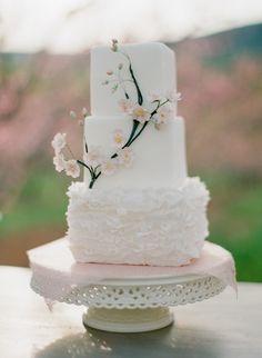 Cherry Blossom Wedding Cake   photography by http://www.jenfariello.com
