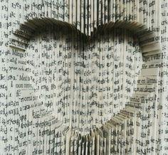 ⚪natta.lk @ instagram⚪ Bokvikning Bookfolding Hjärta Heart Bok Book Vik Vikning Fold Folding Klipp Cut VikOchKlipp KlippOchVik FoldAndCut CutAndFold DIY Gör det själv Mönster-MiaJohansson