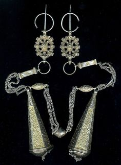 Pair Fibulae Tizerzai Silver Gilt Pectoral Ornament Outstanding Piece Morocco | eBay