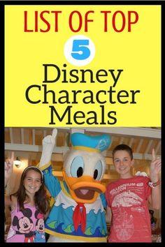 List of Top Disney Character Meals