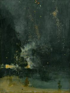 "James Whistler ""Nocturne in Black and Gold"""