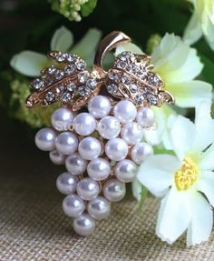 Grapes Brooches Imitation Pearl Brooch