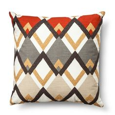 Decorative Pillow Diamond Square Gray - Threshold™ : Target