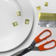 A Gold-Star Plate DIY for Your Awards Show Soiree! - Step 1 #InStyle