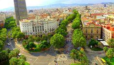 Las Fabulous Ramblas from Colombus Column, Barcelona