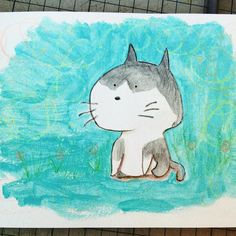 Found this drawing It is Paizo One of my grandmothers cat He has a big head not always friendly but I think he is cute He is very afraid of dogs and lives free to come and go dwgdaily cat drawing graphicdiary