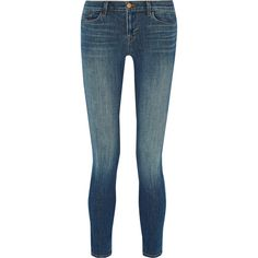 J Brand 811 mid-rise skinny jeans (490 CAD) ❤ liked on Polyvore featuring jeans, blue, j brand jeans, j brand, mid rise skinny jeans, blue jeans and form fitting jeans