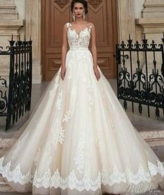 Wonderful Perfect Wedding Dress For The Bride Ideas. Ineffable Perfect Wedding Dress For The Bride Ideas. Bridal Wedding Dresses, Dream Wedding Dresses, Bridesmaid Dresses, Dresses Dresses, Maternity Wedding, Tulle Wedding, Mila Nova Wedding Dress, Wedding Dresses Under 500, Ugly Dresses