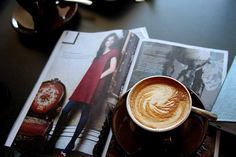 A #fashion #magazine and a good #Italian #cappuccino. Do you need anything else? #lifestyle #mornings #happyness