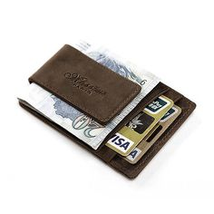 Quality crazy horse #leather money clip #pocket #credit card holder mens gift, View more on the LINK: http://www.zeppy.io/product/gb/2/252453934579/