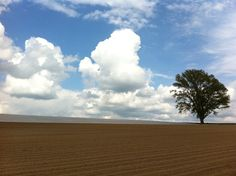 Summer sky in Hokkaido Japan.