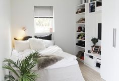 Imagem de bedroom, room, and white