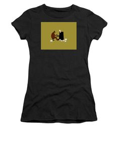 The Bear Play, Black Image, Things That Bounce, T Shirts For Women, Stylish, Mens Tops, Fashion, Moda, Fashion Styles